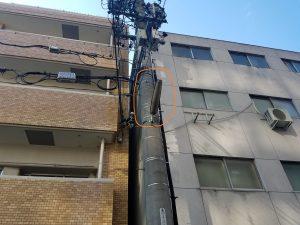 名古屋市中区にて街路灯取替電気工事