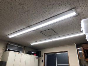 名古屋市中区の事務所にて蛍光灯からLED照明器具へ切替電気工事