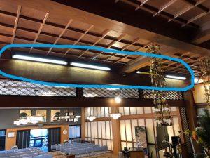 名古屋市中区のお寺にて蛍光灯からLED照明器具へ取替電気工事
