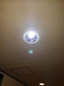 名古屋市守山区の店舗様にてダウンライトの取替電気工事