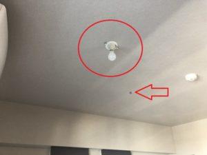 名古屋市中村区の戸建住宅にてペンダントライトのコード長調整及び取付電気
